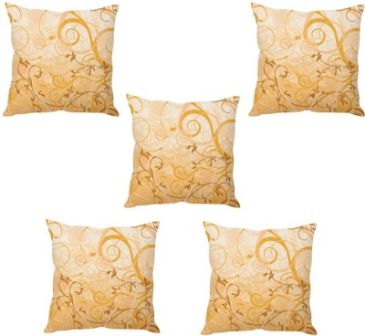 StyBuzz Abstract Cushions Cover(Pack of 5, 40 cm*40 cm, Gold) at flipkart