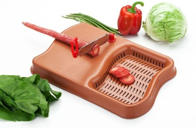 Pearl Berry Plastic, Steel Cutting Board(Brown Pack of 1)  available at flipkart for Rs.149