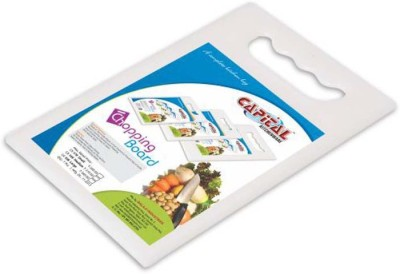 Capital Chopping Board (Medium) Plastic Cutting Board(White Pack of 1)  available at flipkart for Rs.199