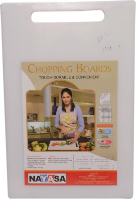 Nayasa Plastic Cutting Board(White Pack of 1)  available at flipkart for Rs.196