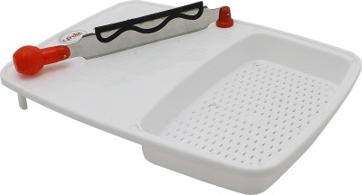 Capital Delux Cut-N-Wash Plastic Cutting Board(White Pack of 1)  available at flipkart for Rs.145