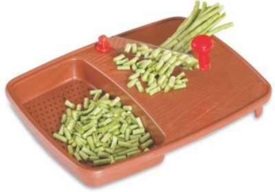 Capital Cut And Wash Vegetable & Fruits Cutting Board Plastic Cutting Board(Brown)  available at flipkart for Rs.187