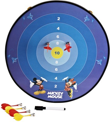 Disney Mickey Funny Multi-Function Magnetic Soft Tip Dart(Blue, Pack of4)