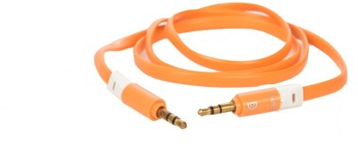 Griffin High Quality 3.5 MM Flat Stereo Aux for Mobile, Tablet & Car Player AUX Cable(Orange)  available at flipkart for Rs.289