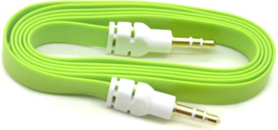 AutoKraftZ Premium Flat Style Aux Cable (Assorted Color) for Maruti Alto AUX Cable(Mobile, Laptop, Tablet, Mp3, Gaming Device, Multicolor)