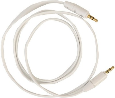 Griffin High Quality 3.5 MM Flat Stereo Aux for Mobile, Tablet & Car Player AUX Cable(White)  available at flipkart for Rs.229