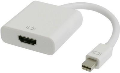 Wiretech Mdthmfa Mini Dp To Hdmi Male To Female 0.2 m HDMI Cable Compatible with MCBook, White