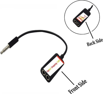 Flipfort Shopping Mall Universal 3.5 MM Audio Earphone Mic Headphone Splitter(Black) Flipkart