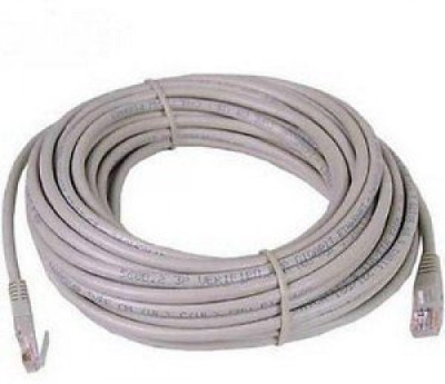 99Gems Rj45 Type Connector, 25 Mtr 25 m LAN Cable Compatible with Computers, Off White 99Gems Cables