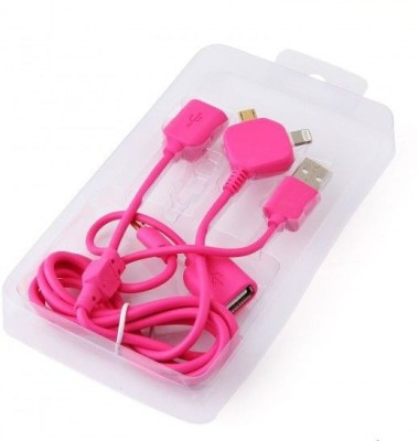 TechGear 2 In 1 Micro USB OTG Multifunction Conductive Charging Pink 1.2 m OTG Cable