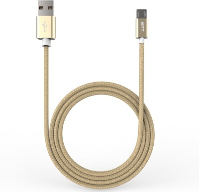 MTT Nylon Braided Tangle Dual Side Cable Reversible Micro USB(Gold)