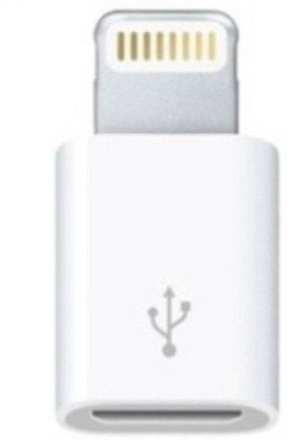 VU4 Micro USB To Lightning 8 Pin Data Adapter Lightning Cable Compatible with Apple iphone 5 5C 5s 6s 6 SE, White, Sync and Charge Cable