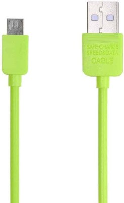 Voltegic ™ Remax Safe Charging Speed Micro USB Cord 1000mm for Android Sync & Charge Cable(Green)