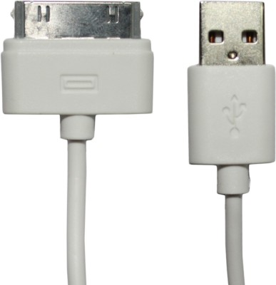 MAK iPh-4 White Micro USB Cable(Compatible with Apple iPhone, White, Sync and Charge Cable) at flipkart