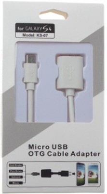 REVOLUTION New OTG cable 05 0.2 m Micro USB Cable Compatible with Mobile, Tablet, White REVOLUTION Mobile Cables