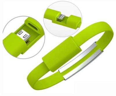 FUTABA USB Micro Charging Bracelet 0.22 m Micro USB Cable Compatible with Apple iPhone 5 5s 6s 6 Plus iPad ios, Green, One Cable FUTABA Mobile Cables