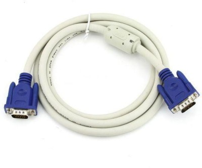 Microware Cable Male to Male VGA Cable(LCD, LED, Computer, Projector, Television, Plasma, White)  available at flipkart for Rs.499