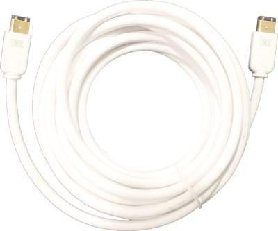 MX 3238 Video Cable(White, Gold)