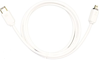 MX 3237 Video Cable(White, Gold)