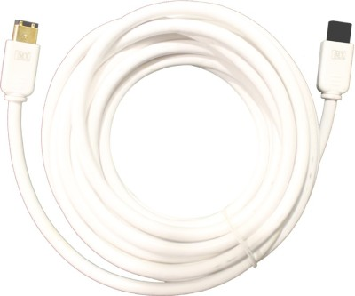MX 3240 Video Cable(White, Gold) 1