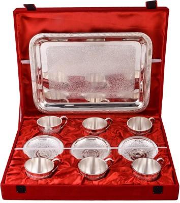GS Museum Pack of 13 Dinner Set(Silver Plated) at flipkart