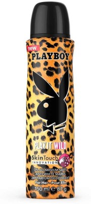 Playboy Play It Wild Deodorant Spray  -  For Women(150 ml)  available at flipkart for Rs.177
