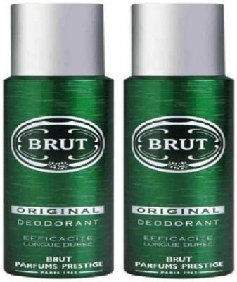 Brut original Deodorant Spray  -  For Men(400 ml, Pack of 2)  available at flipkart for Rs.545
