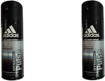 Adidas Dynamic Pulse Deodorant Spray (Pack Of 2) Body Mist  -  For Men(300 ml, Pack of 2)  available at flipkart for Rs.350