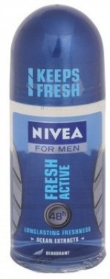 Nivea Fresh Active Deodorant Roll-on  -  For Men(50 g)  available at flipkart for Rs.160
