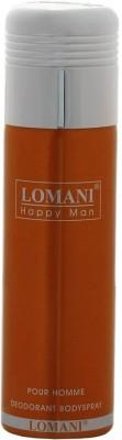 Lomani Happy Man Deodorant Spray  -  For Men(200 ml)  available at flipkart for Rs.249