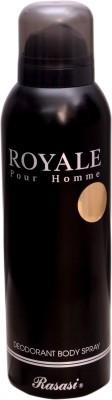 ROYALE pour homme RASASI BLACK Deodorant Spray  -  For Men(200 ml)  available at flipkart for Rs.278