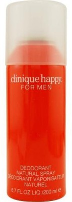 Clinique Happy Deodorant Body Spray  -  For Men(200 ml)  available at flipkart for Rs.795