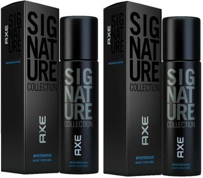 AXE Mysterious Signature Combo Of Two Body Spray  -  For Men(244 ml, Pack of 2)