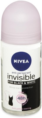 Nivea Invisible for Black & White 48h Anti-Perspirant (Imported) Deodorant Roll-on  -  For Women(50 ml)