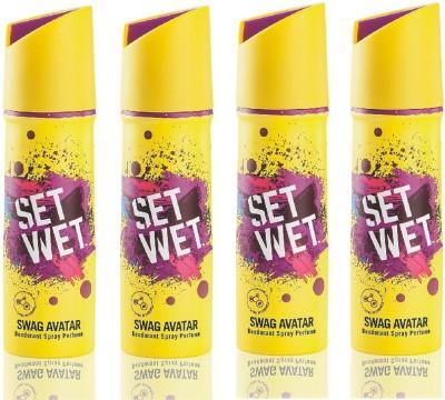 Set Wet Swag Avatar Deodorant Spray  -  For Men(600 ml, Pack of 4)