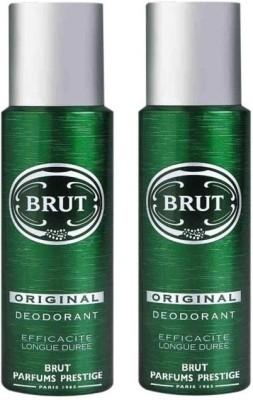 Brut 2 Original Deodorant Spray  -  For Men & Women(400 ml, Pack of 2)  available at flipkart for Rs.425