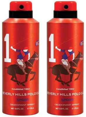 Beverly Hills Polo Club Combo Deodorants No.1X1 Body Spray  -  For Men(350 ml, Pack of 2)  available at flipkart for Rs.390