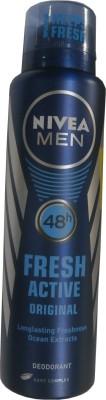 Nivea Fresh Active Original Deodorant Spray  -  For Men(150 ml)  available at flipkart for Rs.198