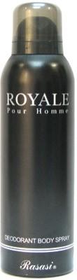 Rasasi Royal Pour Homme Deodorant Spray  -  For Men(200 ml)  available at flipkart for Rs.205