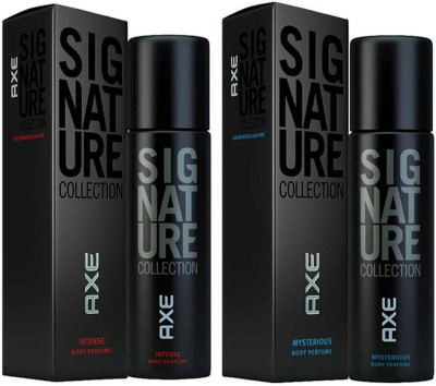 AXE SIGNATURE MYSTERIOUS INTENSE COMBO Deodorant Spray  -  For Men(244 ml, Pack of 2)