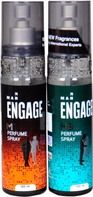 Engage m1,m3 Perfume Body Spray  -  For Men(240 ml, Pack of 3) at flipkart