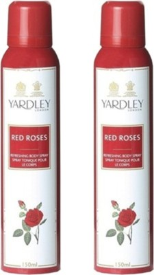 Yardley London Red Roses Deodorant Spray (Pack of 2) Body Mist  -  For Women(300 ml, Pack of 2)  available at flipkart for Rs.380
