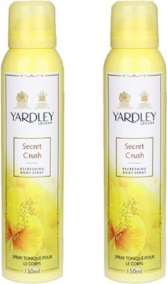 Yardley London London Mist Deodorant Spray (Pack of 2) Body Mist  -  For Women(300 ml, Pack of 2)  available at flipkart for Rs.379