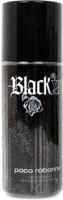 Paco Rabanne Black Xs Deodorant Spray  -  For Men(150 ml)  available at flipkart for Rs.1339