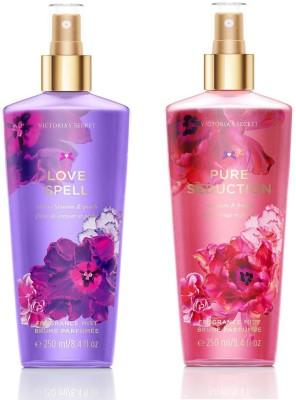 d93bda81a0e 13% OFF on Victoria's Secret Pure Seduction & Love Spell Fantasies Combo  Body Mist - For Women(250 ml, Pack of 2) on Flipkart | PaisaWapas.com