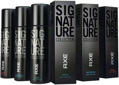 AXE Signature Mysterious Rogue Intense 3 PACK Deodorant Spray  -  For Men(366 ml, Pack of 3)