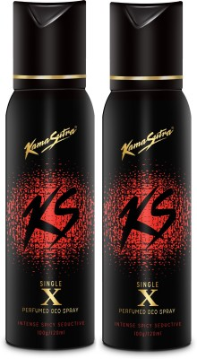 KamaSutra Black X Perfumed Body Spray Deodorant Spray  -  For Men(240 ml) at flipkart