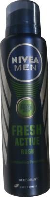Nivea Fresh Active - Rush Deodorant Spray  -  For Men(150 ml)  available at flipkart for Rs.199