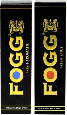 Fogg Aromatic And Spicy Black Series Deodorant Spray (120ML, Pack of 2)