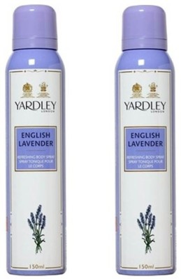 Yardley London English lavender Deodorant Spray  -  For Women(300 ml, Pack of 2)  available at flipkart for Rs.381
